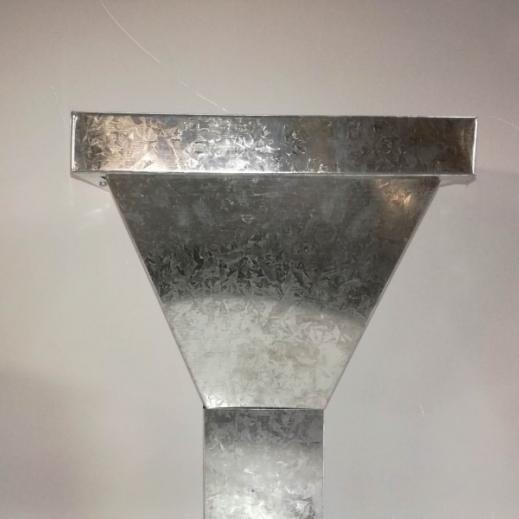 Embudo recto galvanizado 5x10